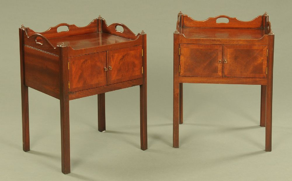 Pair George III style Bedside Cabinets