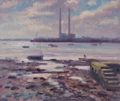 DUBLIN BAY AT SUNSET by Norman Teeling  at Dolan's Art Auction House
