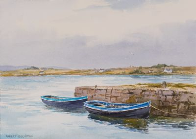 OLD HARBOUR, ROUNDSTONE by Robert Egginton  at Dolan's Art Auction House