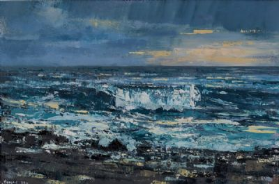 EVENING LIGHT IN A WESTERN SKY by Henry Morgan  at Dolan's Art Auction House
