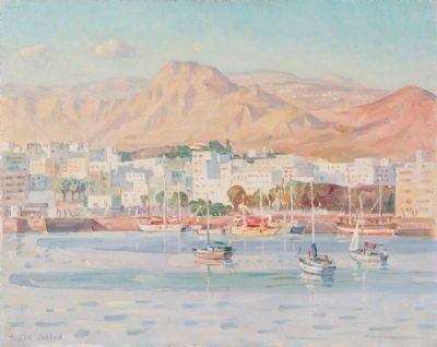 SUMMER HARBOUR by Robert Taylor Carson HRUA at Dolan's Art Auction House