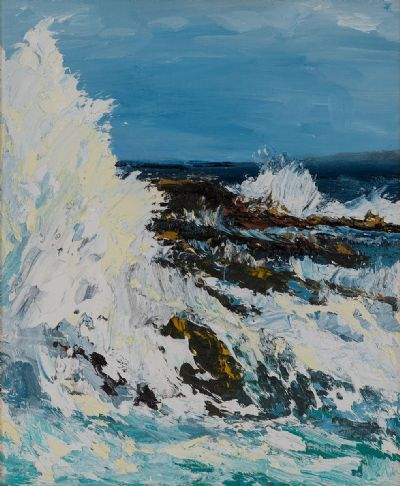 STORMY SEAS by Susan Cronin  at Dolan's Art Auction House