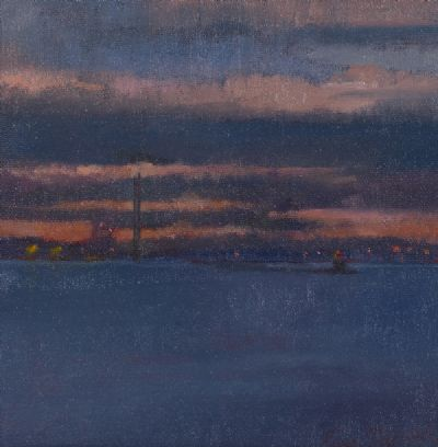 DUBLIN BAY AT SUNSET by Rose Stapleton  at Dolan's Art Auction House