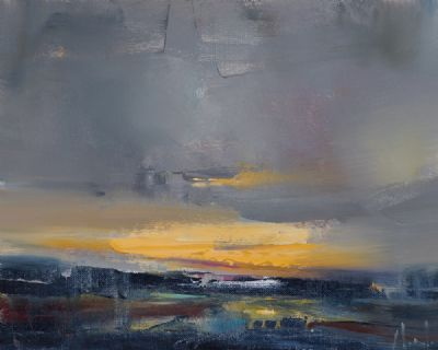 DRAMATIC LAND & SKYSCAPE by Michael Morris  at Dolan's Art Auction House