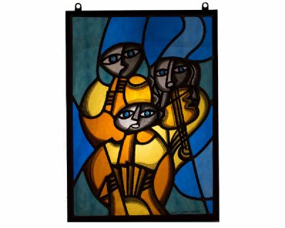 MUSICIANS, CEOL SERIES by Manus Walsh  at Dolan's Art Auction House