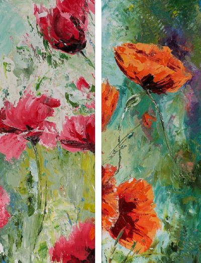 WILD POPPIES by Susan Cronin  at Dolan's Art Auction House