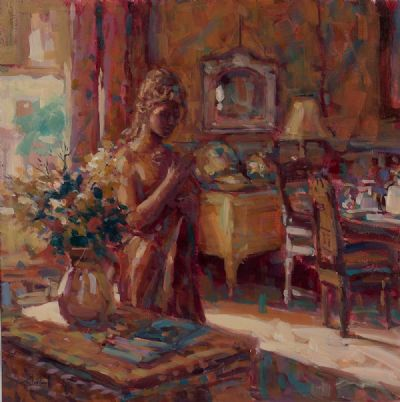 GOLDEN LIGHT by Norman Teeling  at Dolan's Art Auction House