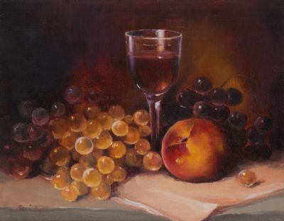 FRUIT & WINE by Lorraine Christie  at Dolan's Art Auction House