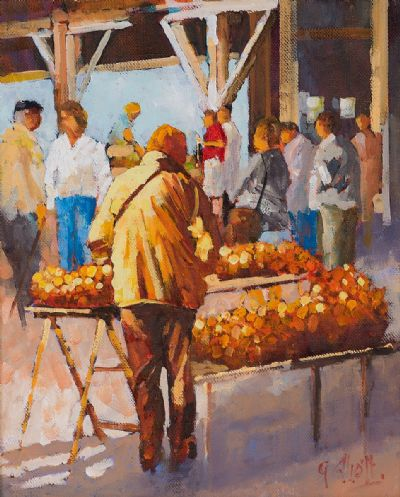 FRENCH ONION SELLER by Graham Elliott  at Dolan's Art Auction House