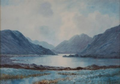AMONG THE TWELEVE PINS, CONNEMARA by Douglas Alexander  at Dolan's Art Auction House