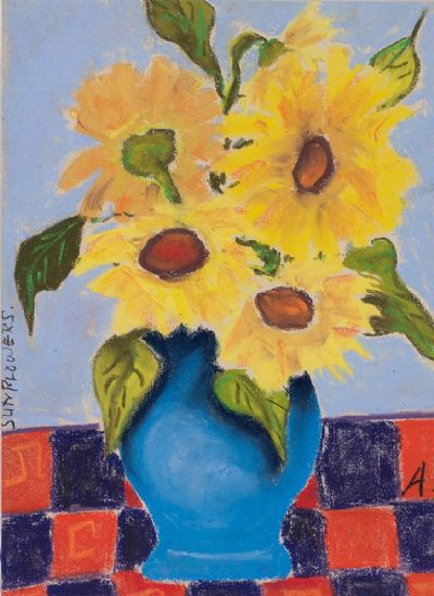 SUNFLOWERS by Annie Robinson  at Dolan's Art Auction House