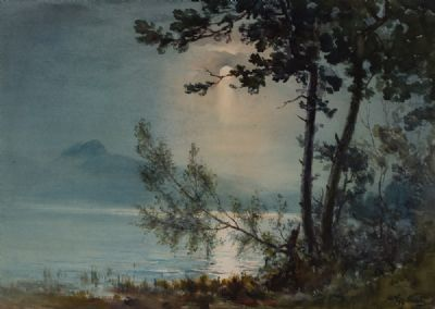 MOONLIGHT by Wycliffe Egginton RI at Dolan's Art Auction House