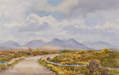 THE OLD BOG ROAD, NEAR ROUNDSTONE by Robert Egginton  at Dolan's Art Auction House