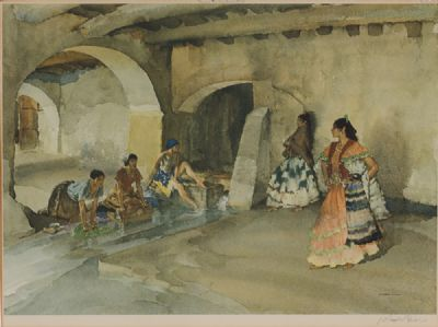 WASH DAY by Sir William Russell Flint RA at Dolan's Art Auction House