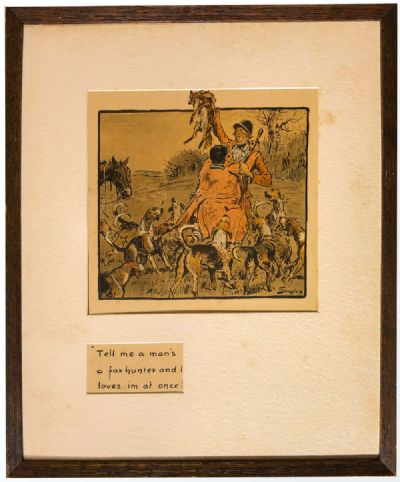 TELL ME A MAN'S A FOX HUNTER AND I LOVES IM AT ONCE by Snaffles, Charlie Johnson Payne  at Dolan's Art Auction House