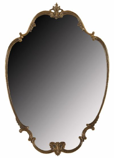 Brass Framed Wall Mirror at Dolan's Art Auction House