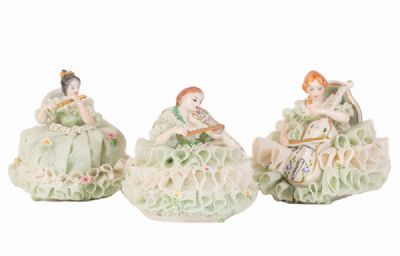 Irish Dresden Figurines at Dolan's Art Auction House