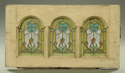 Stained Glass & Lead Arched Panels at Dolan's Art Auction House