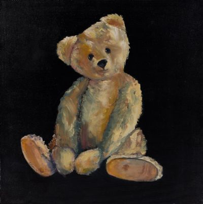 MY TEDDY by Susan Cronin  at Dolan's Art Auction House