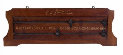 Victorian Mahogany Billiards Scoreboard at Dolan's Art Auction House