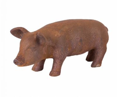 Cast Iron Pig at Dolan's Art Auction House