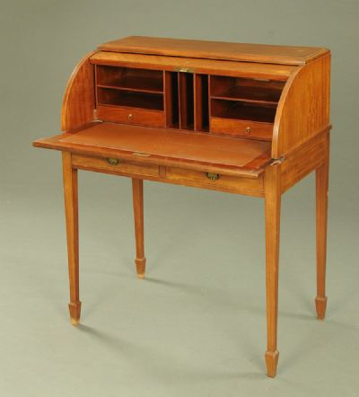 Mahogany Roll Top Desk at Dolan's Art Auction House