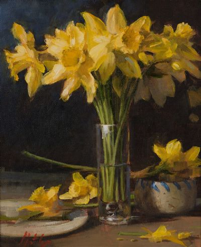 DAFFODILS by Mat Grogan  at Dolan's Art Auction House