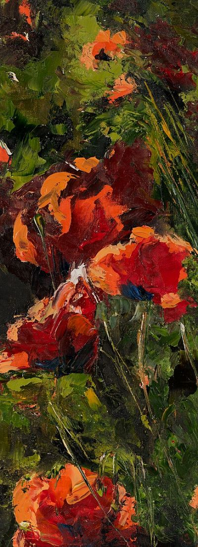 POPPIES IN THE WILD by Susan Cronin  at Dolan's Art Auction House