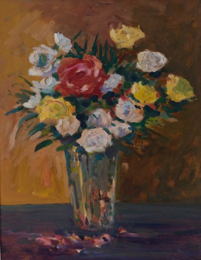 SUMMER ROSES by James O'Halloran  at Dolan's Art Auction House
