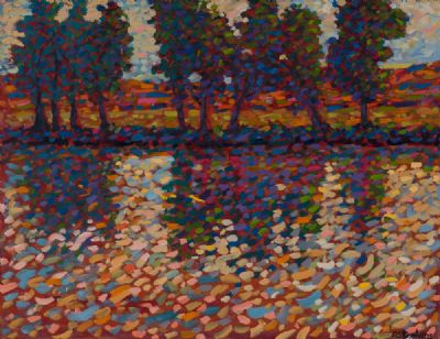 SPARKLING RIVER LIGHT by Paul Stephens  at Dolan's Art Auction House
