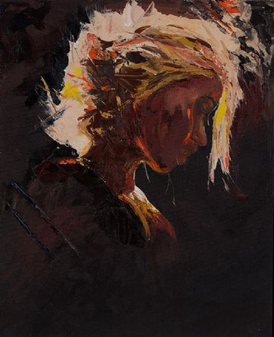 GIRL IN SPOTLIGHT by Susan Cronin  at Dolan's Art Auction House