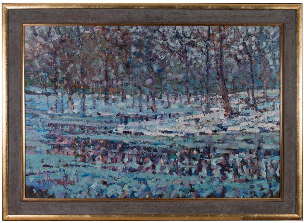 Lot 48 - THE WINTER THAW by Arthur K Maderson, b.1942