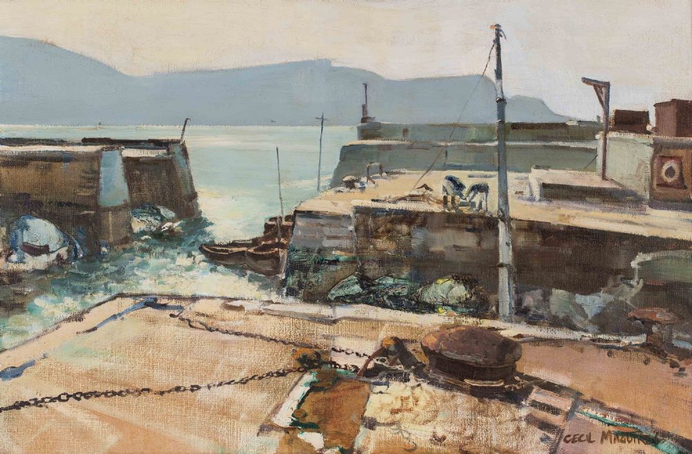 Lot 48 - PURTEEN HARBOUR, ACHILL by Cecil Maguire RUA, 1930 - 2020
