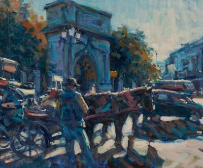 ST STEPHEN'S GREEN, DUBLIN by Norman Teeling  at Dolan's Art Auction House