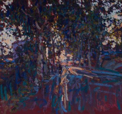 OCTOBER SUNSET by Arthur K Maderson  at Dolan's Art Auction House