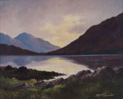 EVENING REFLECTIONS, CONNEMARA by Douglas Alexander  at Dolan's Art Auction House