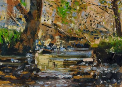 AUTUMN RIVER by Henry Morgan  at Dolan's Art Auction House