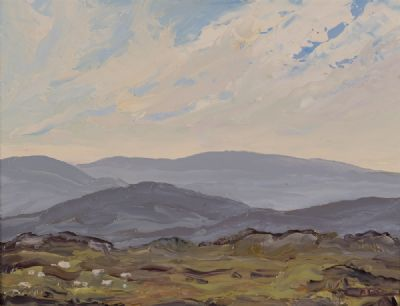 MISTY BLUE ON A MAY MORNING, CONNEMARA by Rosemary Carr ROI at Dolan's Art Auction House