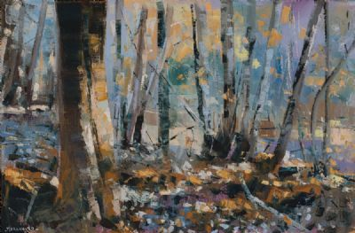 SUNLIGHT THROUGH THE WOODS by Henry Morgan  at Dolan's Art Auction House