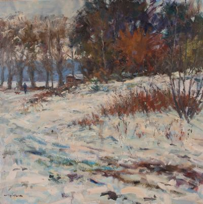 WINTER SNOW by Norman Teeling  at Dolan's Art Auction House