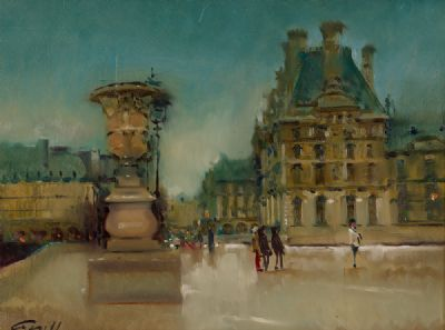 WINTER AT THE LOUVRE by Patrick Cahill  at Dolan's Art Auction House