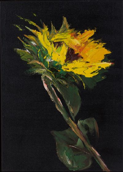 SUNFLOWER by Susan Cronin  at Dolan's Art Auction House