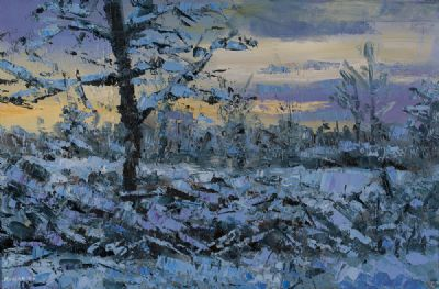 WINTER BLUES, IN EVENING LIGHT by Henry Morgan  at Dolan's Art Auction House
