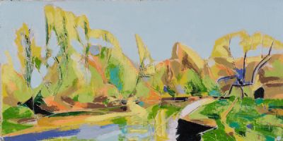 RIVERBANK GREEN by William Grace  at Dolan's Art Auction House