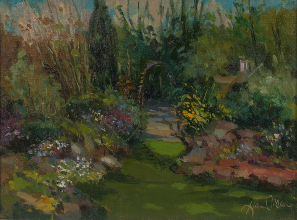 THE SECRET GARDEN by Liam Treacy  at Dolan's Art Auction House