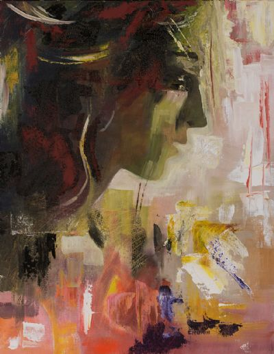 MODERN WOMAN, ON THE EDGE by Susan Cronin  at Dolan's Art Auction House