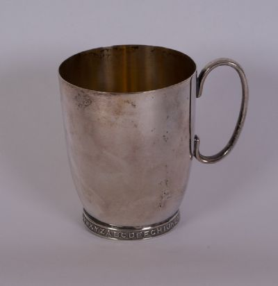 Silver Plated Christening Mug at Dolan's Art Auction House