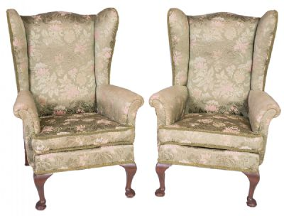 Pair of Wing Back Armchairs at Dolan's Art Auction House