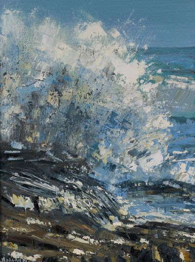 CRASHING WAVE by Henry Morgan  at Dolan's Art Auction House