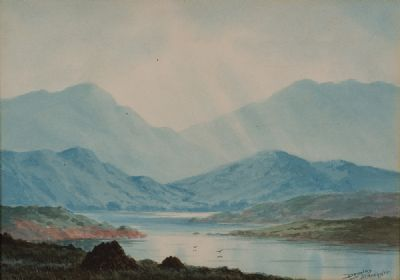 BLUE HILLS OF CONNEMARA by Douglas Alexander  at Dolan's Art Auction House
